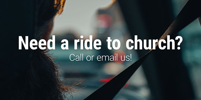 Need a ride to church?